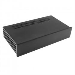 HIFI 2000 Boîtier Slimline 2U 230mm Façade 10mm Noir