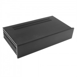 HIFI 2000 Case Slimline 2U 230mm - Front 10mm Black