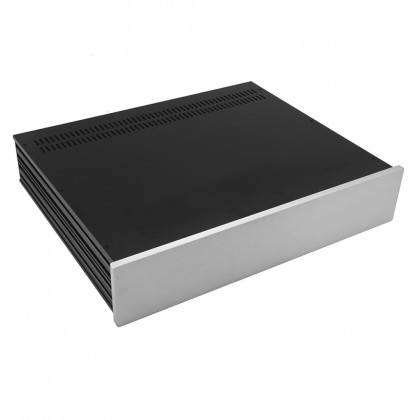 HIFI 2000 Slimline 2U Chassis 350mm - 10mm front Silver