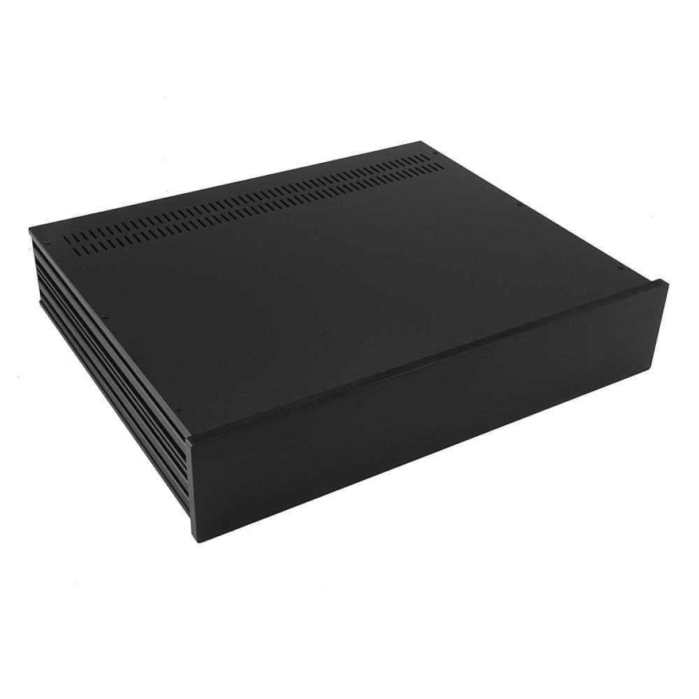 HIFI 2000 Boitier Slimline 2U 350mm - Facade 10mm Noir