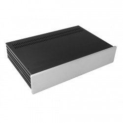 HIFI 2000 Slimline 2U Chassis 280mm - 10mm front Silver