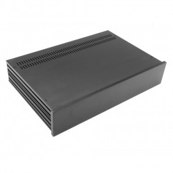 HIFI 2000 Boitier Slimline 2U 280mm - Facade 10mm Noir