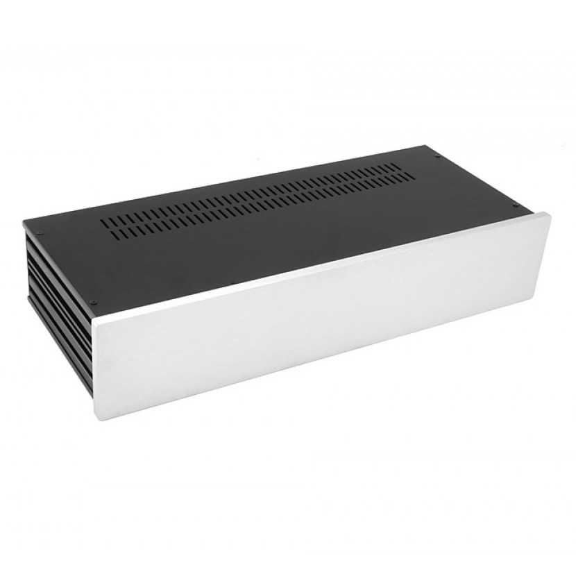 HIFI 2000 Case Slimline 2U 170mm - Front 10mm Silver