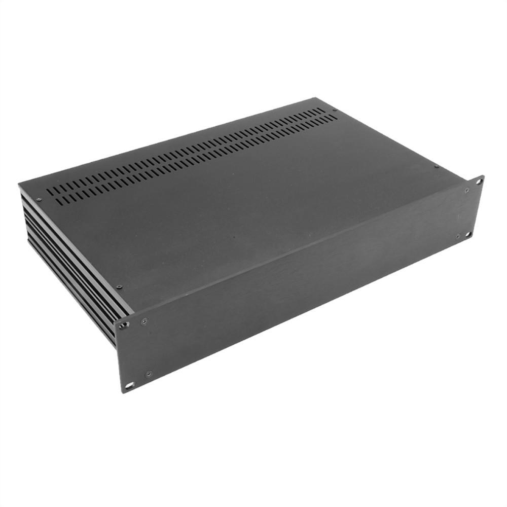 HIFI 2000 Boitier Slimline 2U 230mm - Facade 4mm Noir