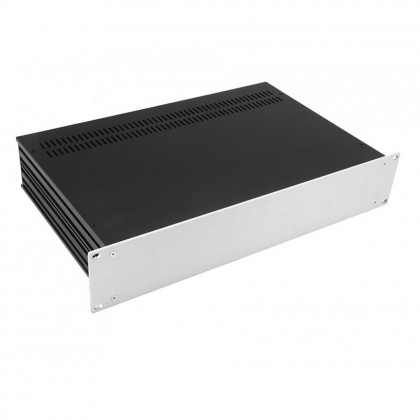 HIFI 2000 Slimline 2U Chassis 230mm - 4mm front Silver