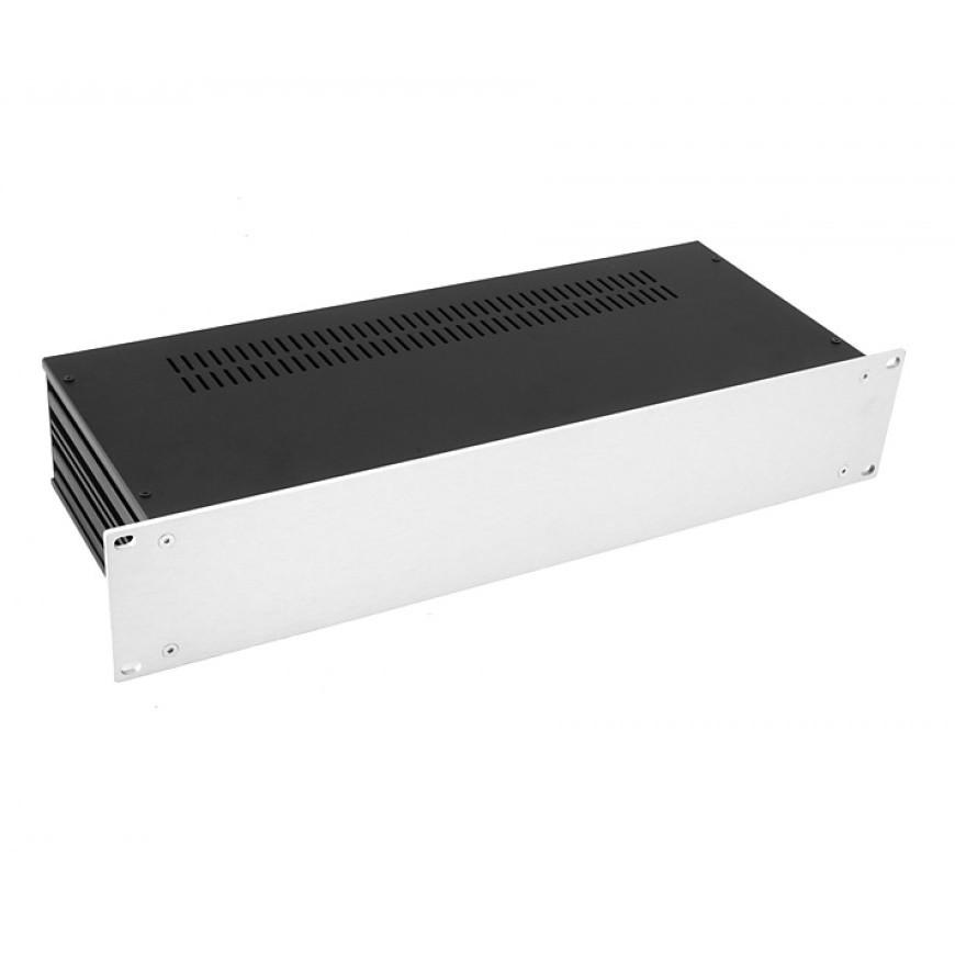 HIFI 2000 Case Slimline 2U 170mm - Front 4mm Silver