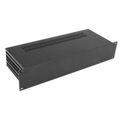 HIFI 2000 Boitier Slimline 2U 170mm - Facade 4mm Noir