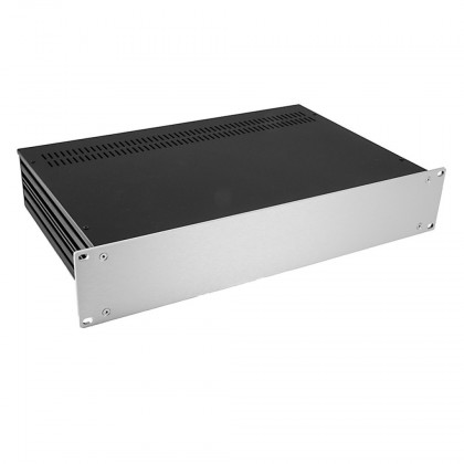 HIFI 2000 Slimline 2U Chassis 280mm - 4mm front Silver
