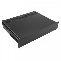 HIFI 2000 Boitier Slimline 2U 350mm - Facade 4mm Noir