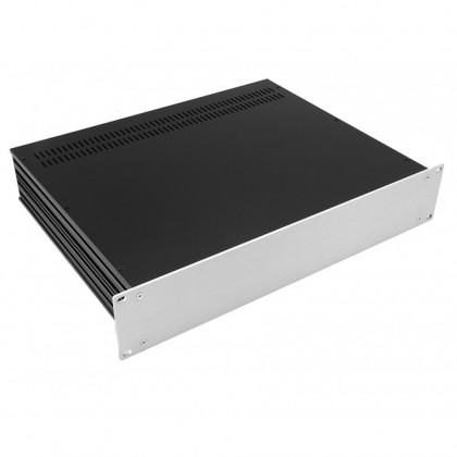 HIFI 2000 Slimline 2U Chassis 350mm - 4mm front Silver