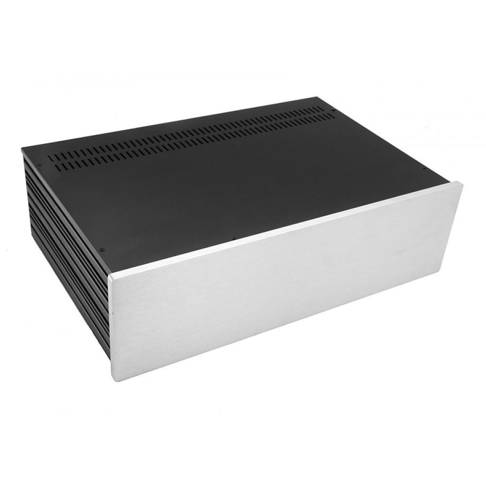HIFI 2000 Case Slimline 3U 280mm - Front 10mm Silver