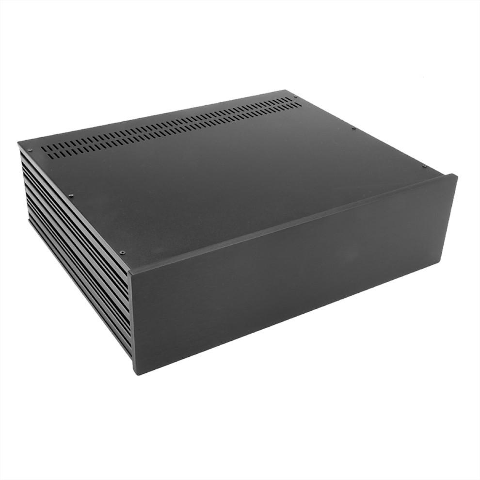 HIFI 2000 Case Slimline 3U 350mm - Front 10mm Black