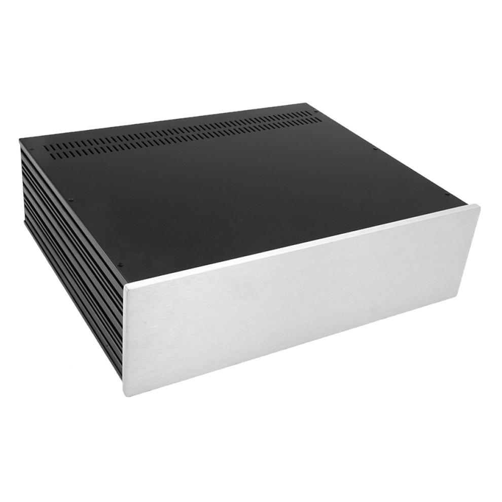 HIFI 2000 Case Slimline 3U 350mm - Front 10mm Silver