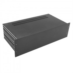HIFI 2000 Boitier Slimline 3U 230mm - Facade 4mm Noir