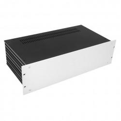 HIFI 2000 Case Slimline 3U 230mm - Front 4mm Silver