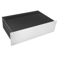 HIFI 2000 Slimline 3U Chassis 280mm - 4mm front Silver