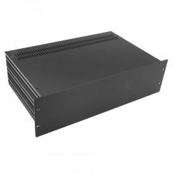 HIFI 2000 Boitier Slimline 3U 350mm - Facade 4mm Noir
