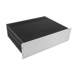 HIFI 2000 Case Slimline 3U 350mm - Front 4mm Silver