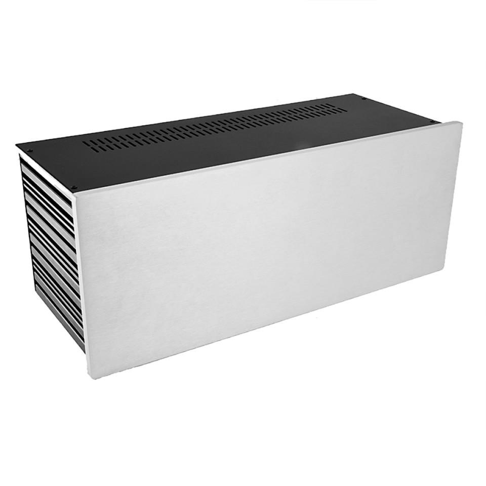 HIFI 2000 Case Slimline 4U 170mm - Front 10mm Silver