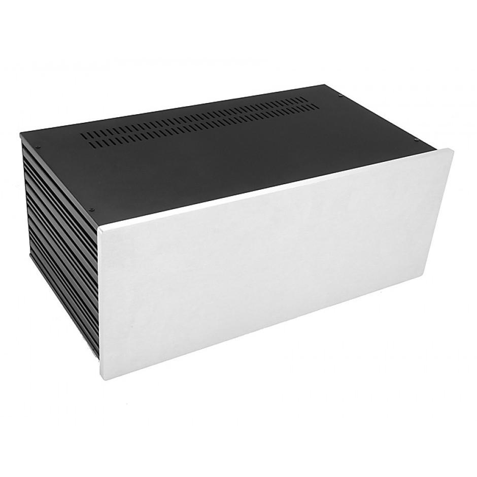 HIFI 2000 Case Slimline 4U 230mm - Front 10mm Silver