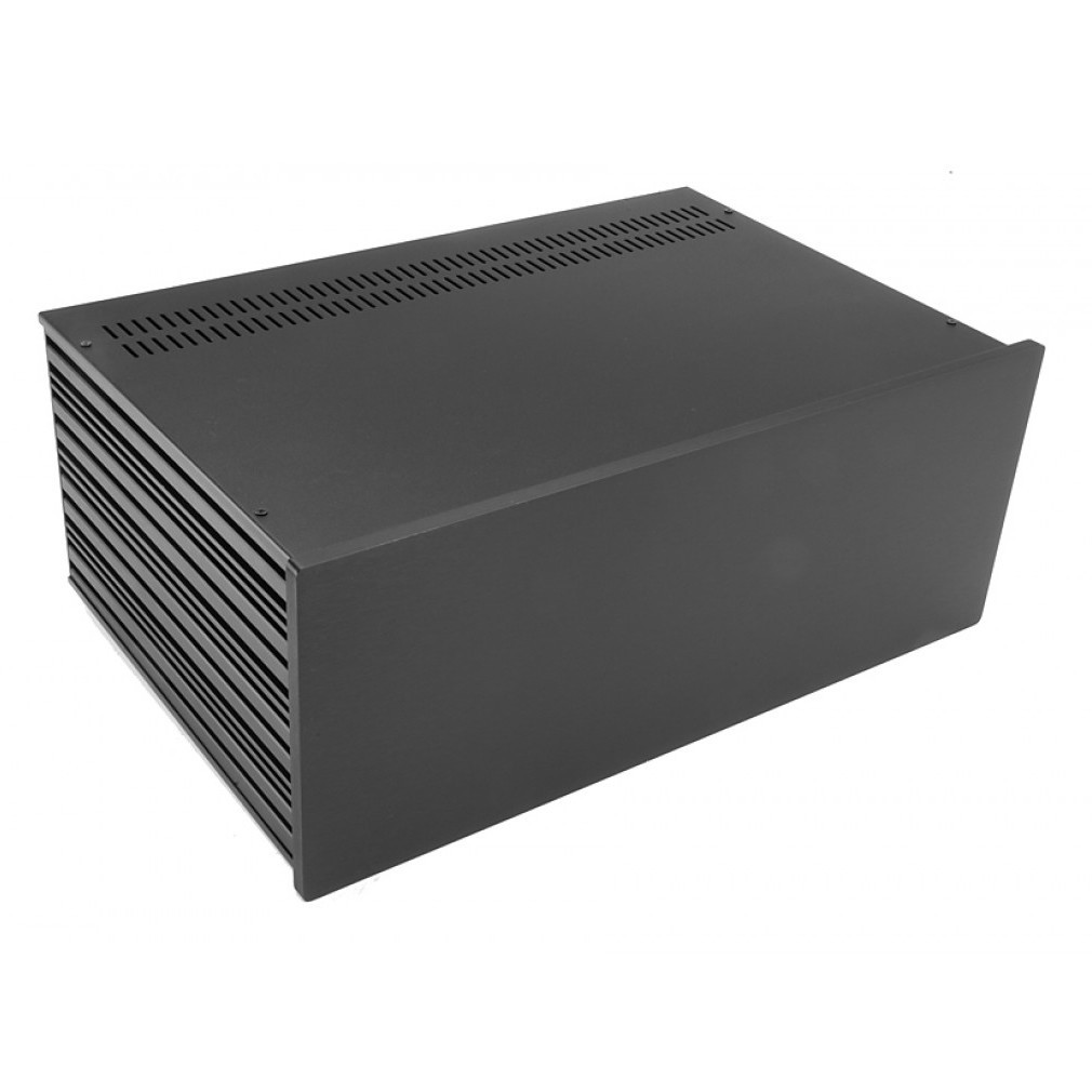 HIFI 2000 Boitier Slimline 4U 280mm - Facade 10mm Noir