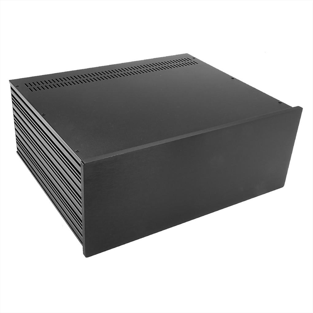 HIFI 2000 Boitier Slimline 4U 350mm - Facade 10mm Noir
