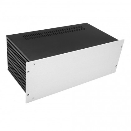 HIFI 2000 Slimline 3U Chassis 430mm - 4mm front Silver