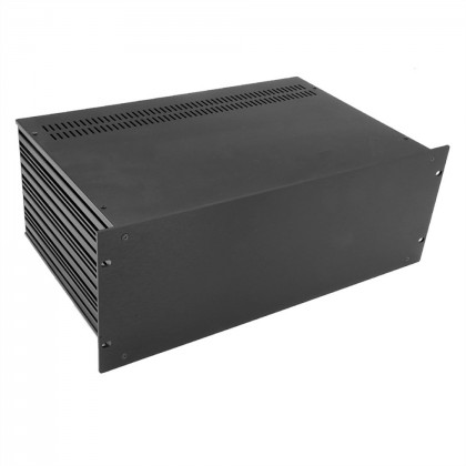 HIFI 2000 Boitier Slimline 4U 280mm - Facade 4mm Noir