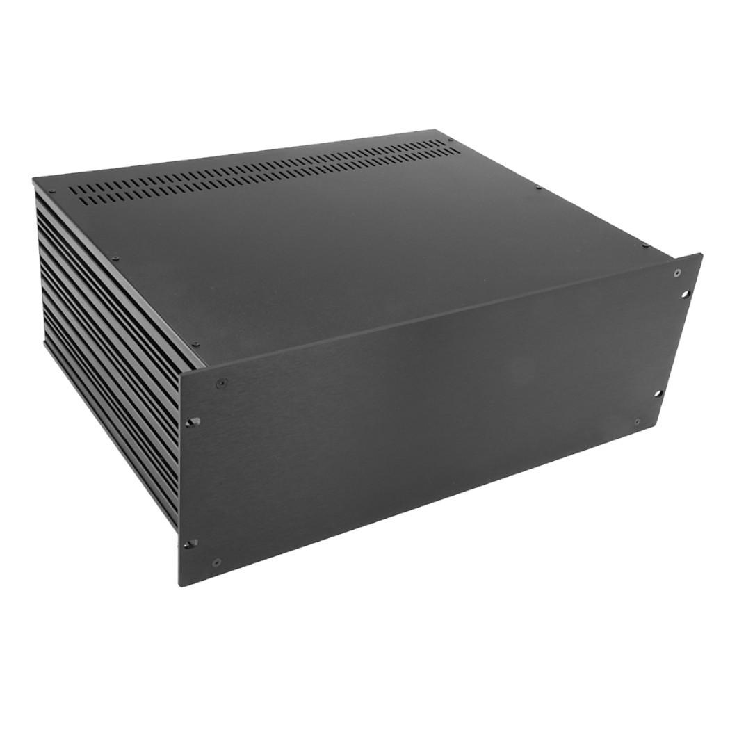 HIFI 2000 Boitier Slimline 4U 350mm - Facade 4mm Noir