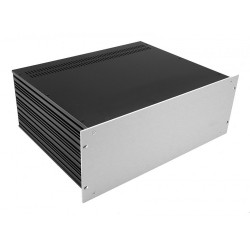HIFI 2000 Slimline 4U Chassis 350mm - 4mm front Silver