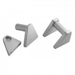 HIFI 2000 5U aluminium milled handles Silver (Pair)