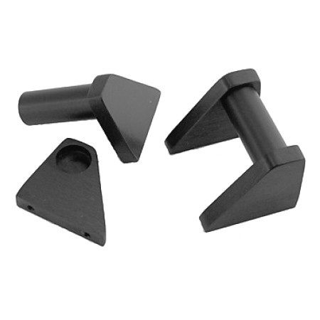 HIFI 2000 Poignées Aluminium 2U Noir (La paire)