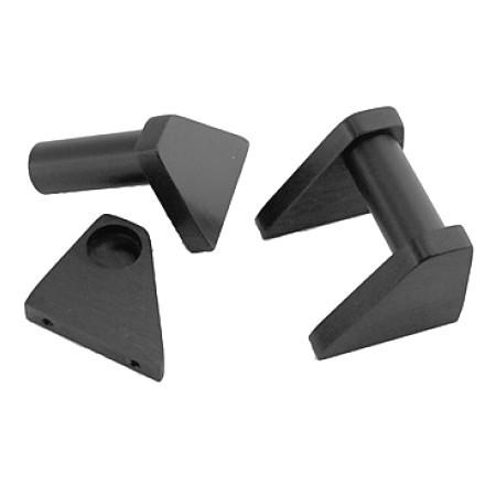 HIFI 2000 Poignées Aluminium 5U Noir (La paire)