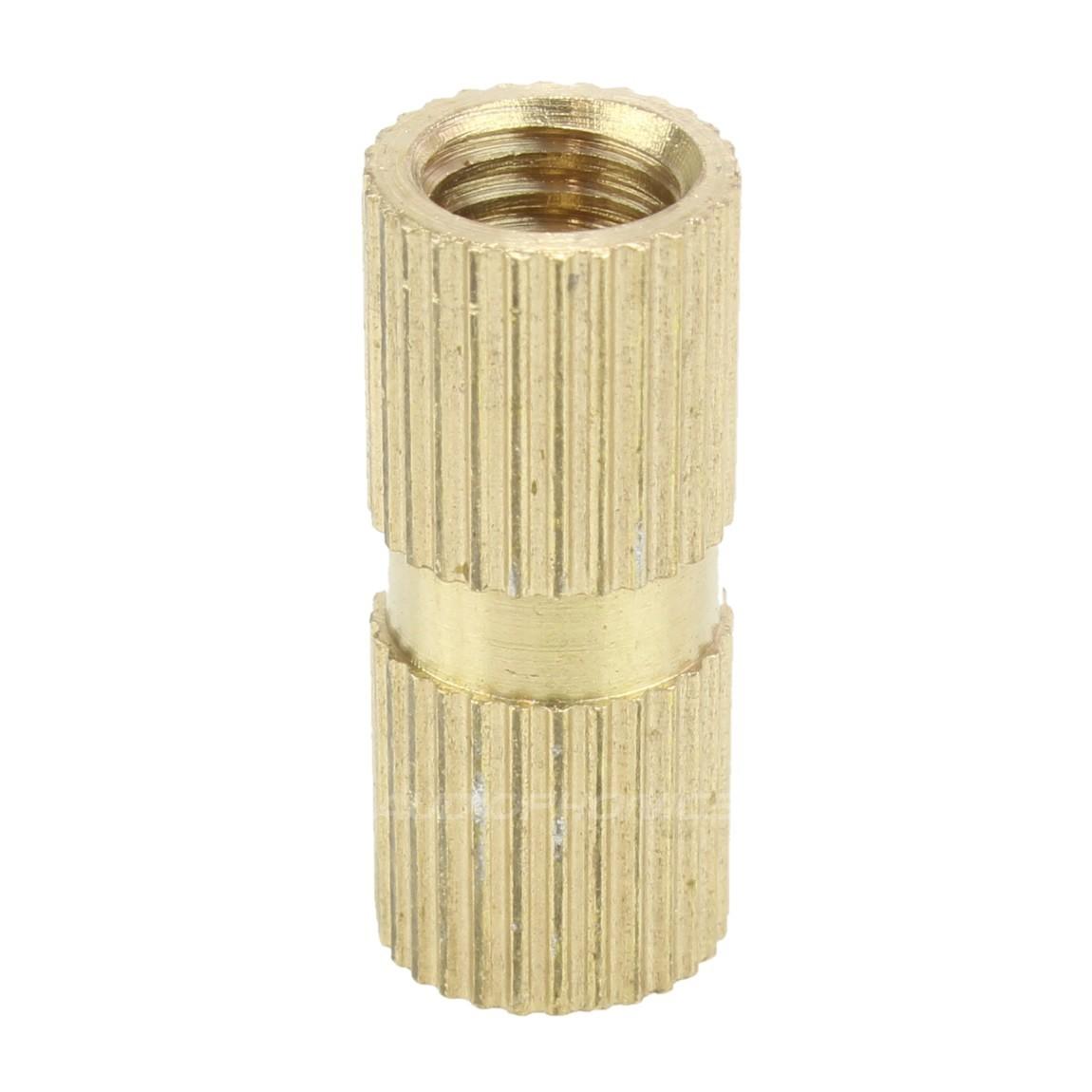 Insert en laiton pour bois filetage M6x20x8mm (Unité)