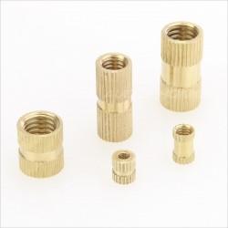 Insert en laiton pour bois filetage M3x6x5mm (Unité)