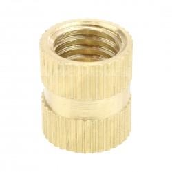 Insert en laiton pour bois filetage M8x12x10mm (Unité)