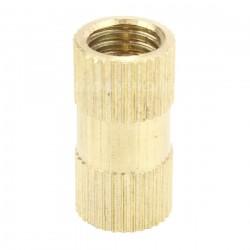 Insert en laiton pour bois filetage M8x20x10mm (Unité)