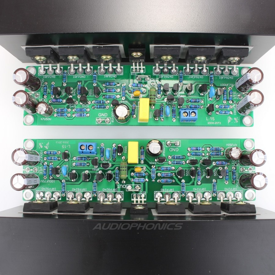 Lj L15 Mosfet Amplifier Boards 150w 8 Ohm Mono Pair Audiophonics 30r Wiring Schematic