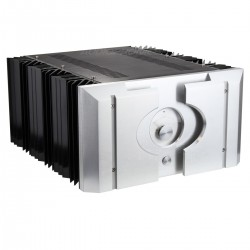 Boitier DIY 100% Aluminium ventilé avec Vu-mètre & dissipateurs 396x360x195mm