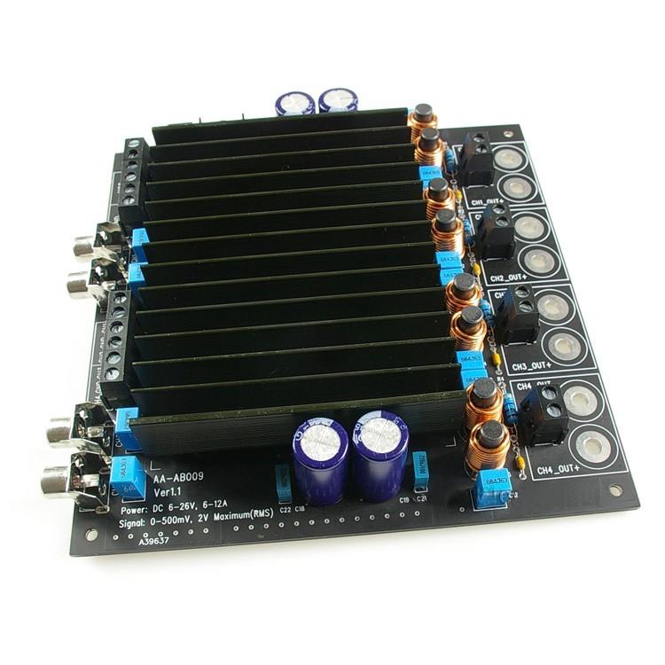 WONDOM AA-AB009 Audio Amplifier Board Class D STA508 / TC2000 4x 100 Watts 4 Ohms