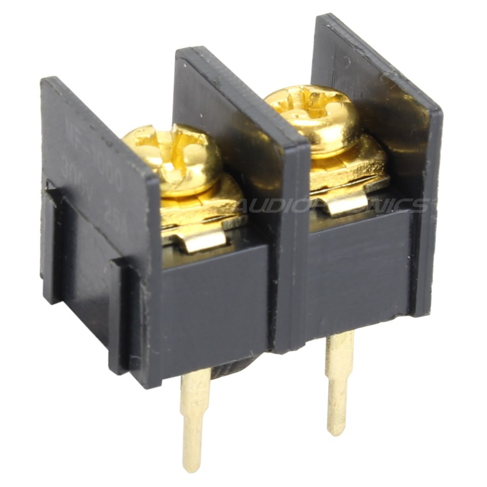 PCB / Circuit board terminals 2 poles Gold plated
