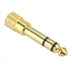 Stereo Male Jack 6.35mm to Female Jack 3.5mm Adapter Gold Plated