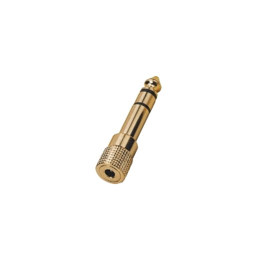 gold plated jack to female jack plug adapter. Black Bedroom Furniture Sets. Home Design Ideas