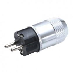 OYAIDE M1e Schuko Plug Beryllium Copper Platinium / Palladium plated Ø17mm