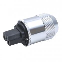 OYAIDE F1 Connecteur IEC Cuivre Béryllium plaqué Platine / Palladium Ø17mm