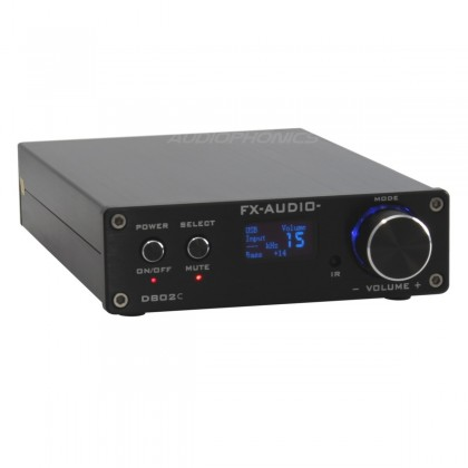 FX-AUDIO D802C Amplificateur numérique Bluetooth Class D STA326 2x 80W 4 Ohm