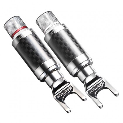 Furutech CF-201 R Spade Plug Rhodium Plated Ø 5.5mm (Pair)