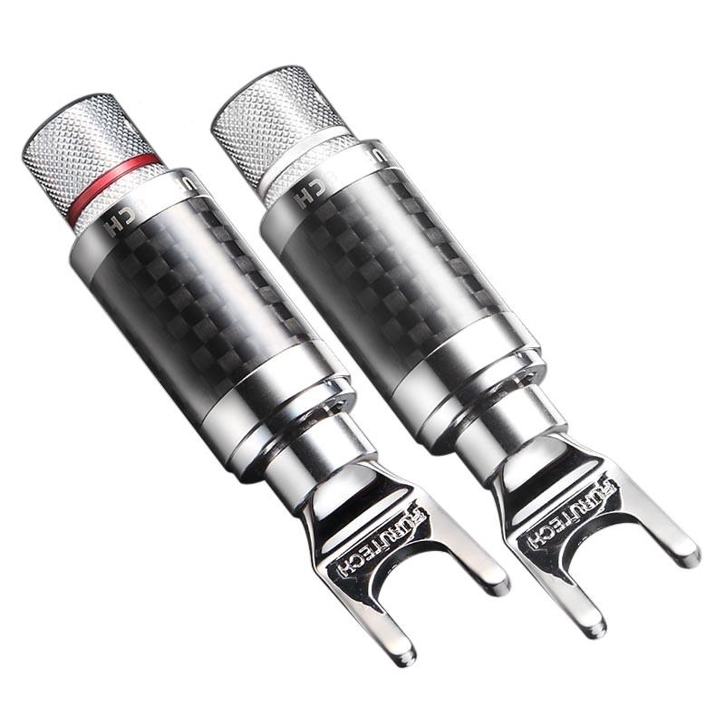 FURUTECH CF-201 (R) Spade Plug Rhodium Plated Ø5.5mm (Pair)