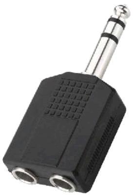 Adaptateur Jack6,35mm mâle stéréo vers 2 x Jack 6,35mm femelle mono