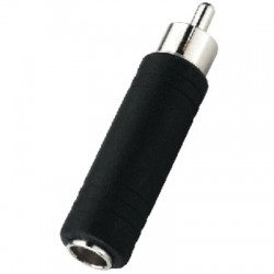 6.35 female stereo to RCA male plug adapter